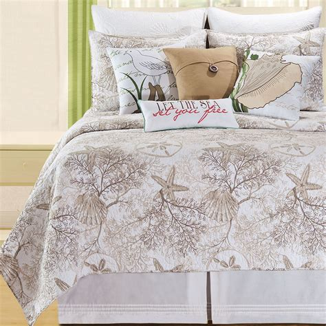 quilts bedding barefoot landing coastal quilt bedding