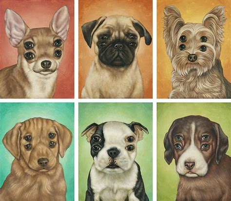 poochie puppy poochie poochie portraits of four eyed by casey weldon