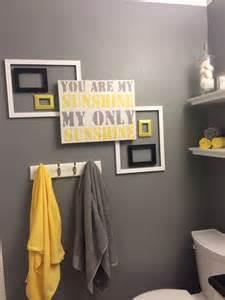 Yellow and grey bathroom for roman pinterest