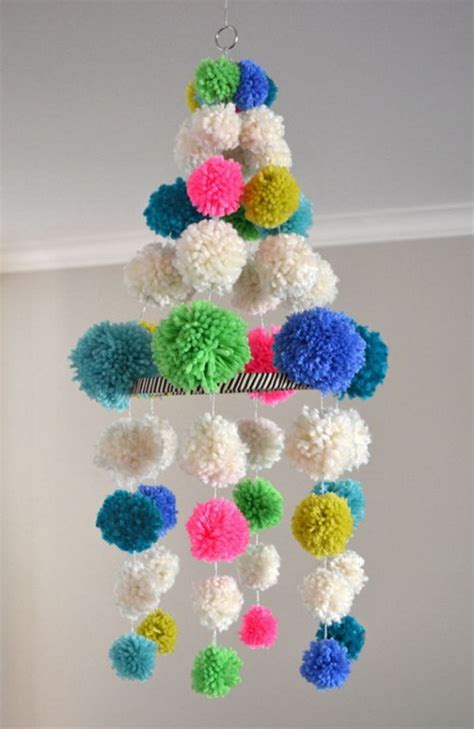 Handmade Pom Pom Decorations - easy diy pom pom crafts decorations noted list