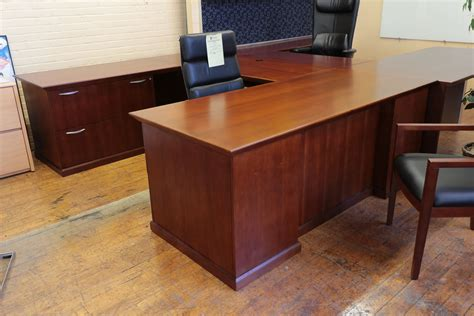 hbf u shapped cherry executive desk peartree office