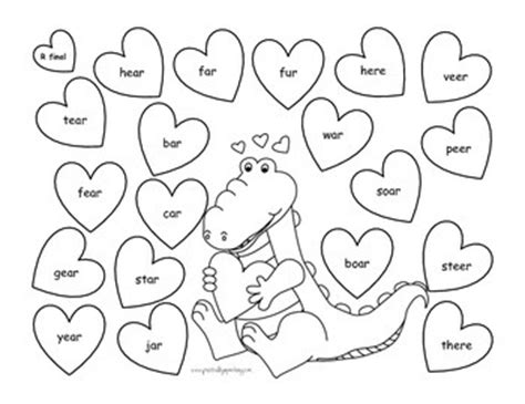 articulation coloring page valentine s day no prep articulation packet free for the