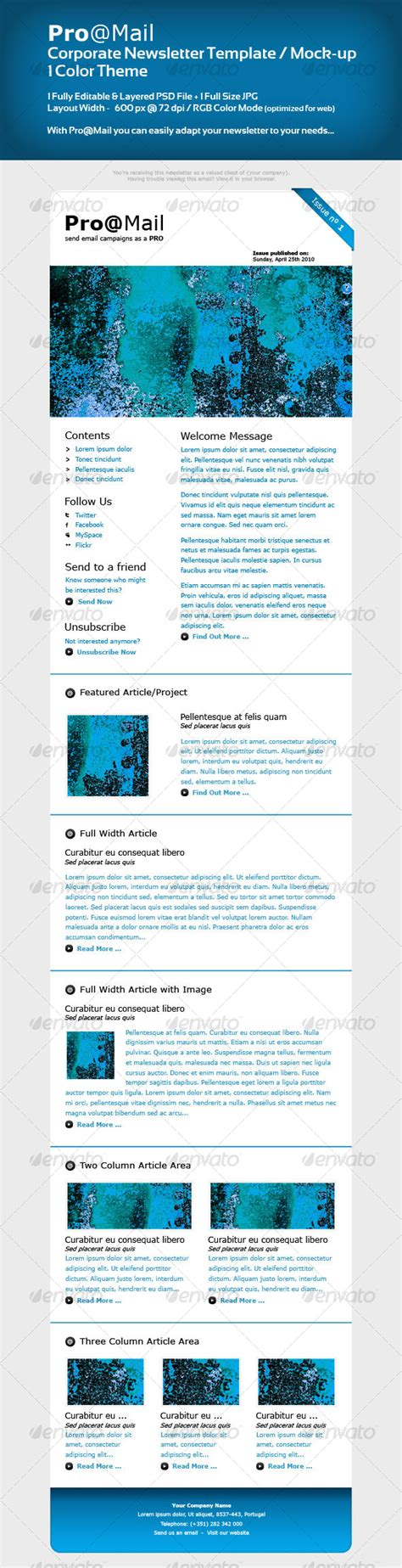 corporate newsletter template mock up graphicriver