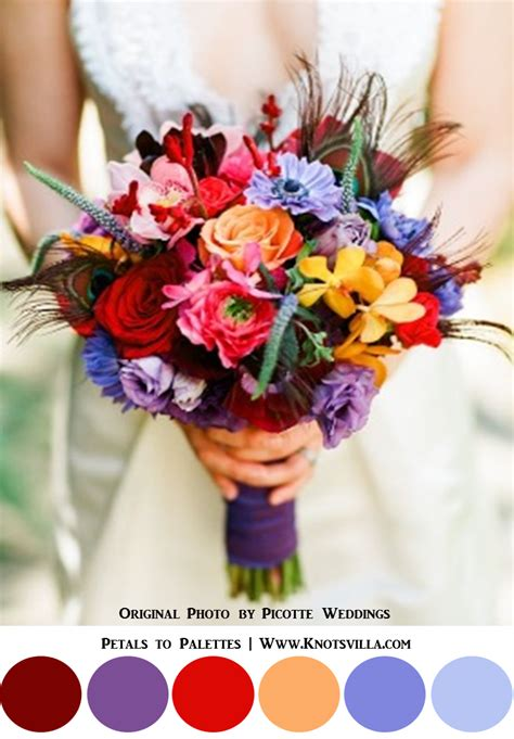 colorful wedding colorful bouquets 15 most colorful wedding bouquets so