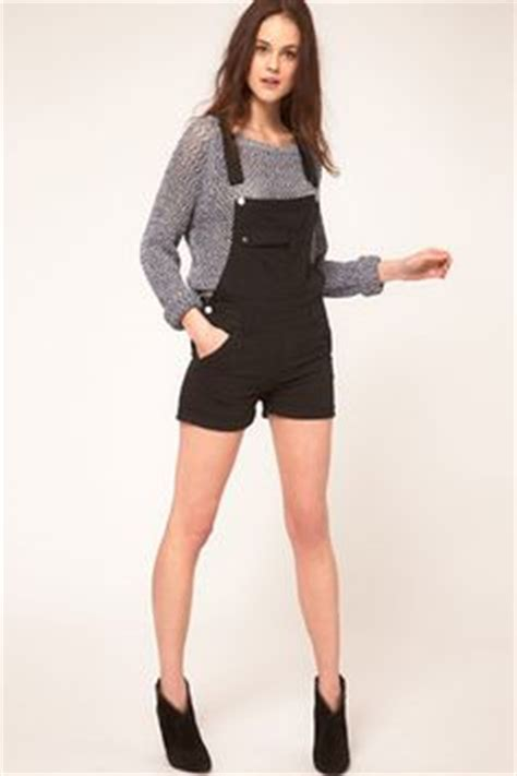Annue Overall Black dungaree shorts overall shorts shortalls on