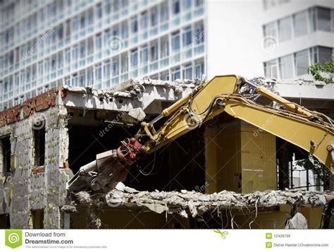 demolishing a house demolishing a house royalty free stock images image 12428799