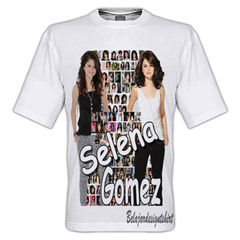 T Shirt Kaos Anak Selana Gomez koleksi psd desain kaos selena gomez feature t shirt