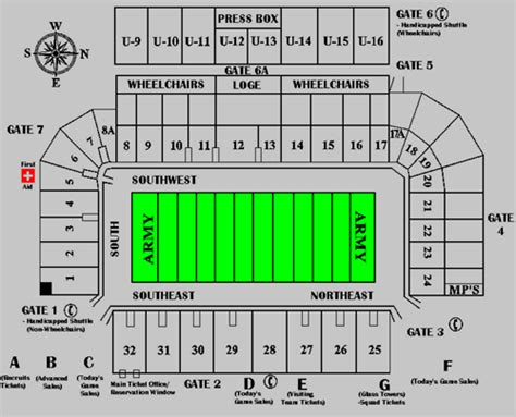 michie stadium seating chart army black knights 2014 football schedule