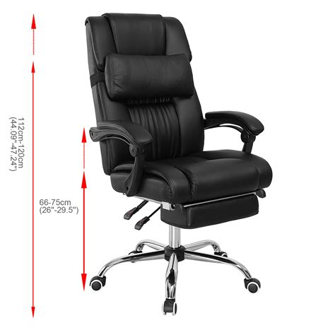 reclining desk chair with footrest executive reclining office chair ergonomic high back