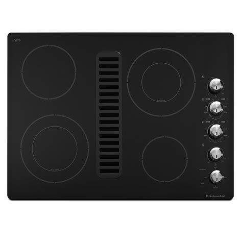 30 Cooktop With Downdraft shop kitchenaid smooth surface electric cooktop with downdraft exhaust black common 30 in