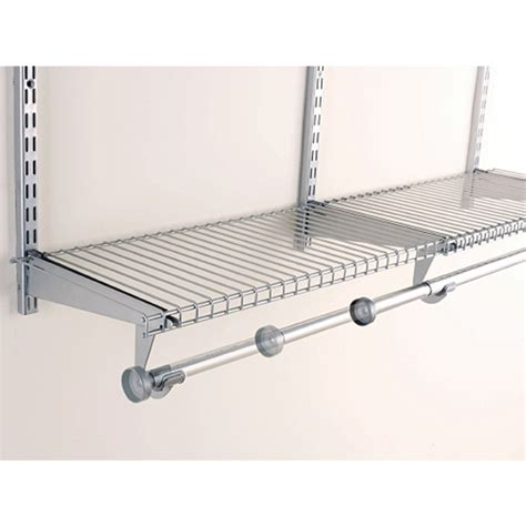 install rubbermaid wire shelving shop rubbermaid homefree 4 ft adjustable mount wire