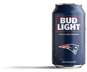 Patriots fans bud light has created a can just for you 187 patriots