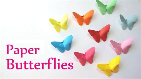 How Do You Make A Paper Butterfly - diy crafts paper butterflies easy innova crafts