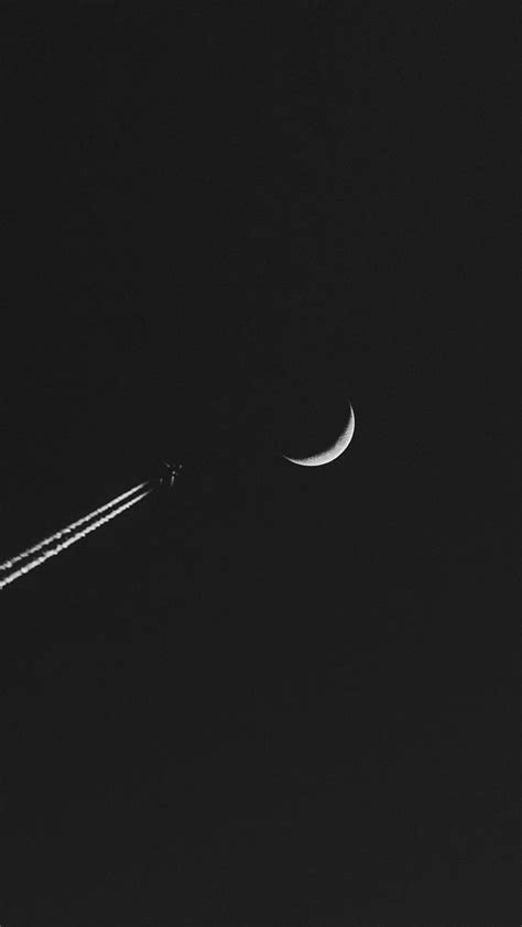 wallpaper handphone black airplane moon minimalism wallpaper 1080x1920