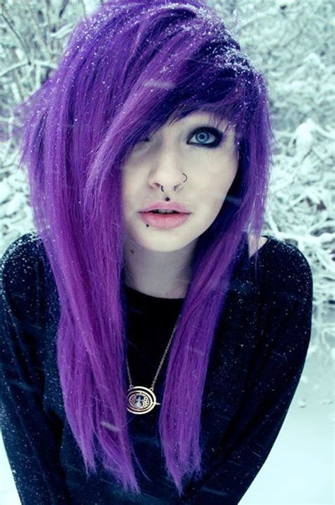 emo dyed hairstyles most popular tags for this image include purple hair alt