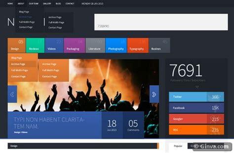 Css Design Vorlagen 28 Metro Style Templates Html Css Joomla Ginva