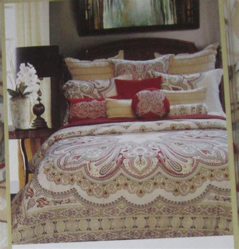 envogue bedding envogue royale paisley king comforter shams pillows set
