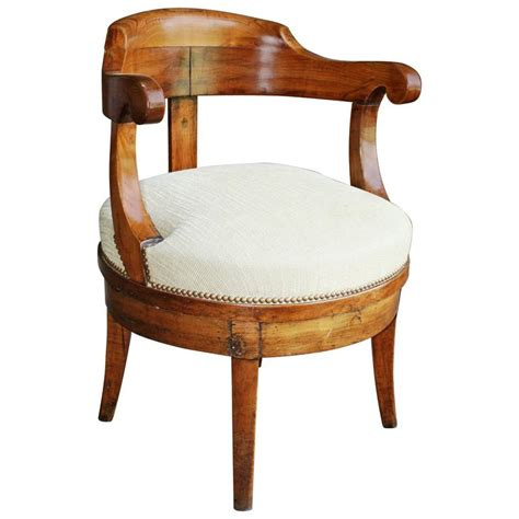 Furniture Chair Desk Empire Style Empire Revolving Desk Chair For Sale At 1stdibs