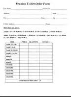 family reunion t shirt order form template family reunion invitations page