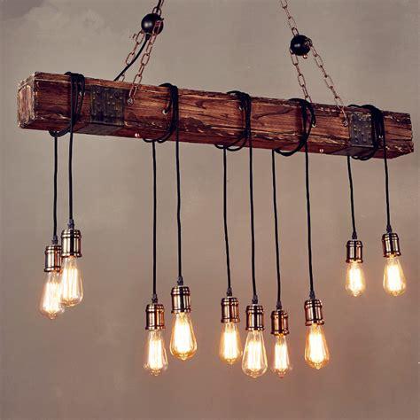 Bar Pendant Light Fixtures Iwhd 10 Heads Wood Vintage L Loft Style Industrial Pendant Light Fixtures Bar Coffe Edison