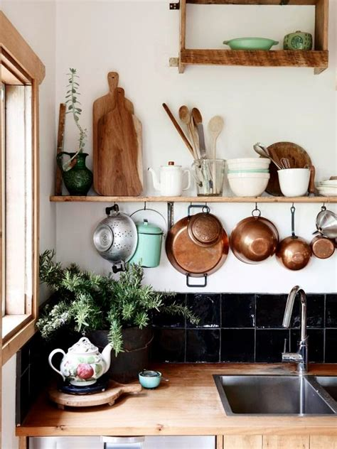 decorating a kitchen with copper moon to moon creating a beautiful bohemian kitchen on a