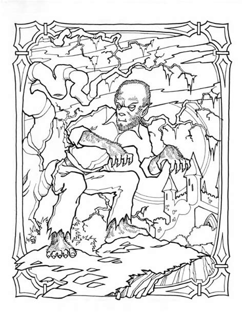goosebumps werewolf coloring pages coloring pages