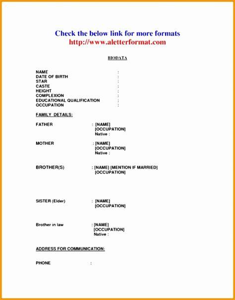 biodata format for job interview in word 6 biodata resume format for attendant job free sles