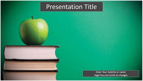 Free Education Powerpoint Template 6238 Sagefox Powerpoint Templates Education Powerpoint Templates Free
