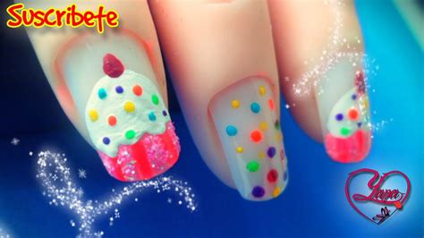 imagenes decoraciones de uas decoraciones de u 241 as cupcakes yana nail art youtube