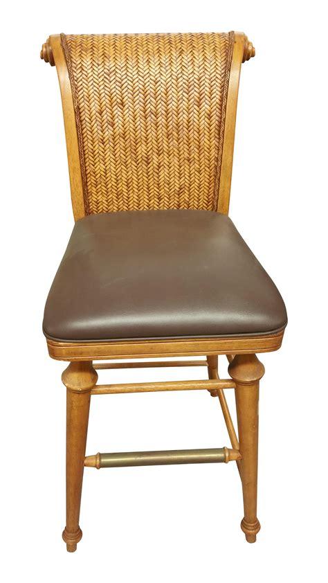 3ft bar stools wicker wood bar stools a pair chairish
