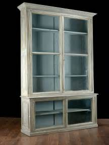 Bookshelves With Glass Doors Pair Of Antique Glass Door Bookcases At 1stdibs