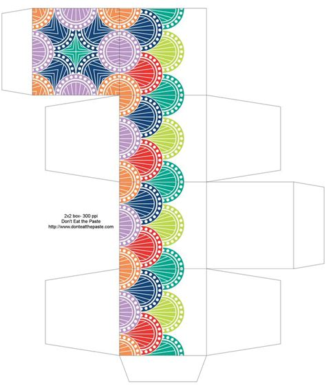 templates for gift boxes to print spring colors printable gift box paper and fabric