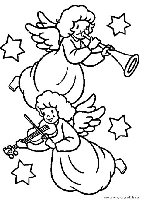 holiday music coloring pages christmas angels playing music color page christmas