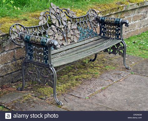 ornate garden bench ornate painted cast metal and wood garden bench seat with