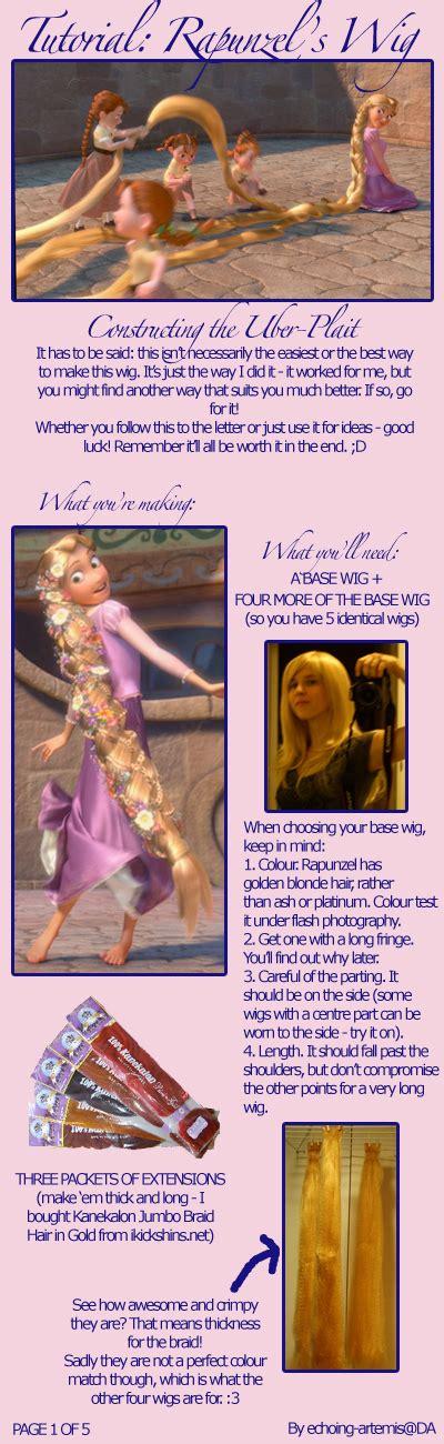 rapunzel tutorial wig dramatic threads stuff day tutorials