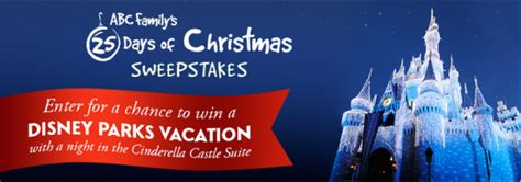 abc family s 25 days of christmas sweepstakes win a trip to disney world more - Win A Trip To Disney World Sweepstakes