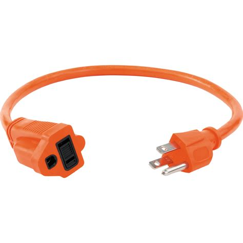 orange electrical wire watson 1 5 ft ac power extension cord 16 awg orange