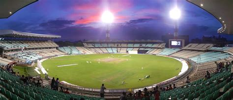 edens garden eden gardens hosts india s first day night match with pink