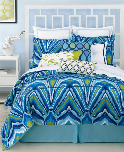 trina turk bedding trina turk blue peacock comforter and duvet cover sets