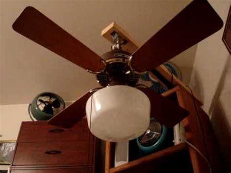 36 inch ceiling fan with 36 quot brown brass hunter original ceiling fan youtube