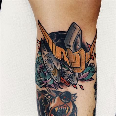 gundam tattoo my gundam barbatos done by spacehustle ace of hearts