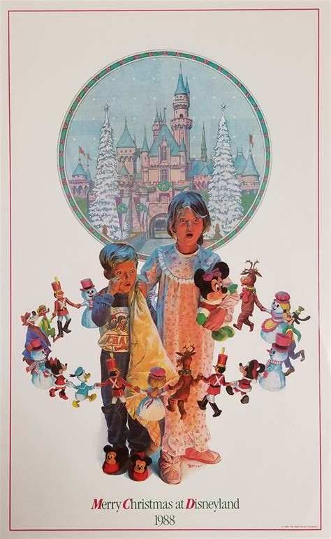disneyland christmas test print poster id aprdisneyland van eaton galleries