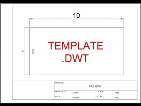 autocad layout template a4 autocad 2d 07 como criar um template completo youtube