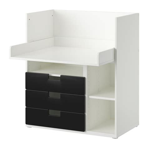black desk with drawers ikea stuva desk with 3 drawers white black 90x79x102 cm ikea
