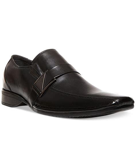 steve madden madden rockir dress slip on shoes in black