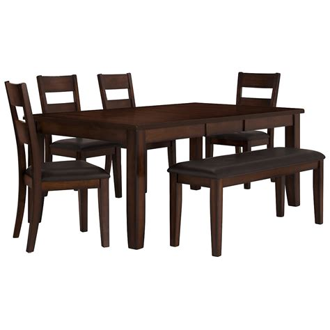dining table 4 chairs and bench city furniture mango2 dark tone rectangular table 4