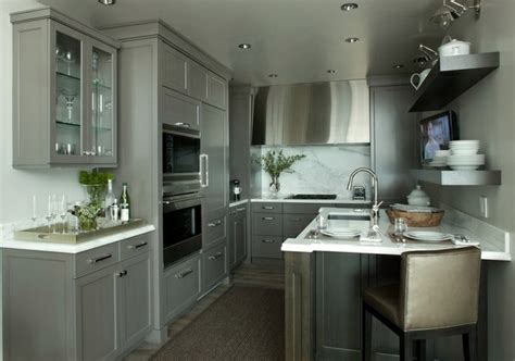 Silver Kitchen Cabinets by 15 Modern Gray Kitchen Cabinets In Silver Shades