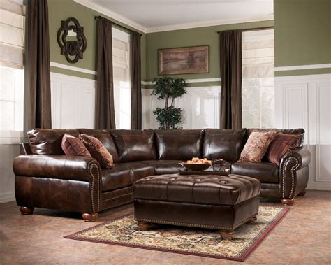 ashley durablend antique sofa lisbon durablend antique quot sectional by ashley furniture