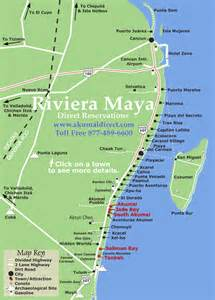 Riviera Maya Mexico Map by Mexico Map Mayan Riviera