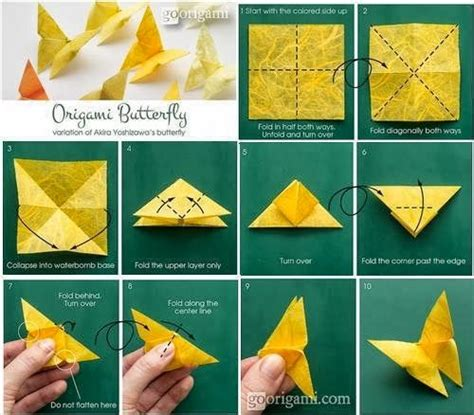 How To Fold Butterfly Origami - origami butterfly crafts diy origami
